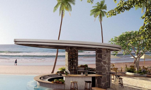 Bali style frontage